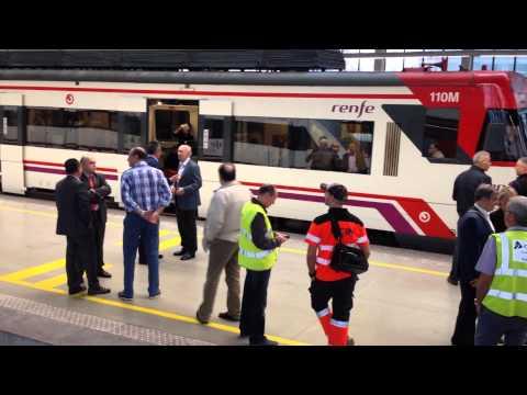 Accidente de tren en la estación de Abando de Bilbao