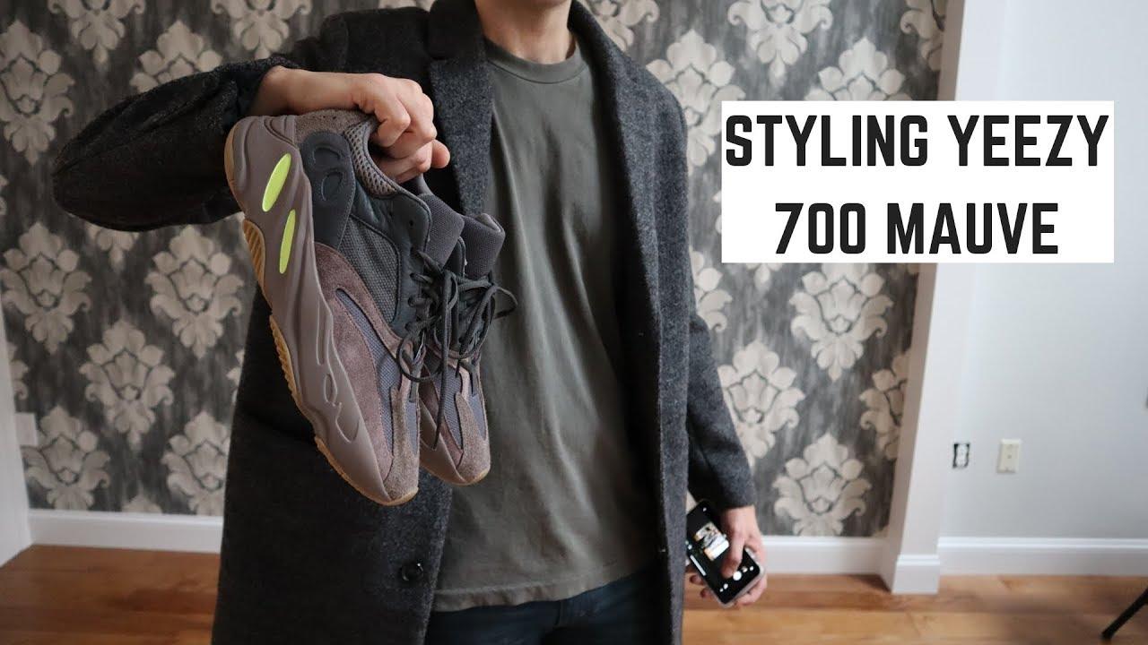 yeezy mauve 700 outfit ideas