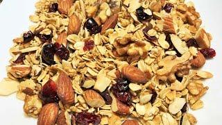 ГРАНОЛА - самый быстрый и  полезный завтрак.  Granola- Healthy Breakfast.