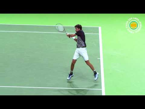 Robin Haase naar het 45e ABN AMRO World Tennis Tournament