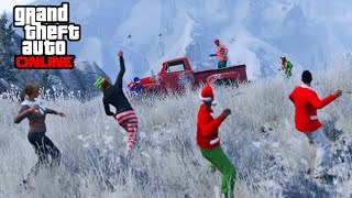 GTA 5 Festive Update - SNOWBALL FIGHT, Rare Shirts, & Snow Days Online! (Christmas Holiday DLC)