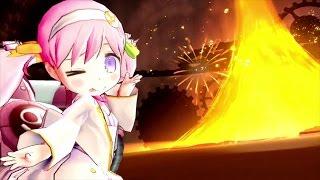 Luminous Arc Infinity character clips: Aqua, Palsh, Violet, Brigitta & Feilang