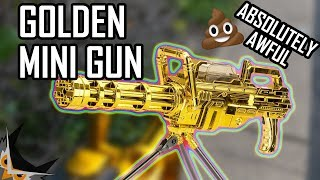 CHEAP GOLDEN MINIGUN | ASP MAXPOWER