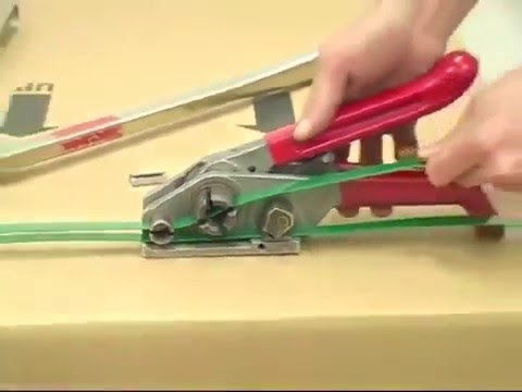 72992de0087 How to use a Manual Plastic Poly Strap Tensioner for Boxes and Pallets