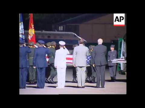 GERMANY: BODIES OF AMERICANS KILLED IN NAIROBI BOMB BLAST ARRIVE