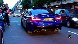 2015 Lexus RC-F Sport Coupe w/ Loud Drake Music On in London! Revs & Driving Scenes!