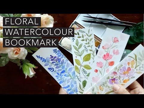 DIY Watercolor bookmarks