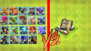All Troops Vs gear Levl 15 Cannon | Clash Of Clans Private Server