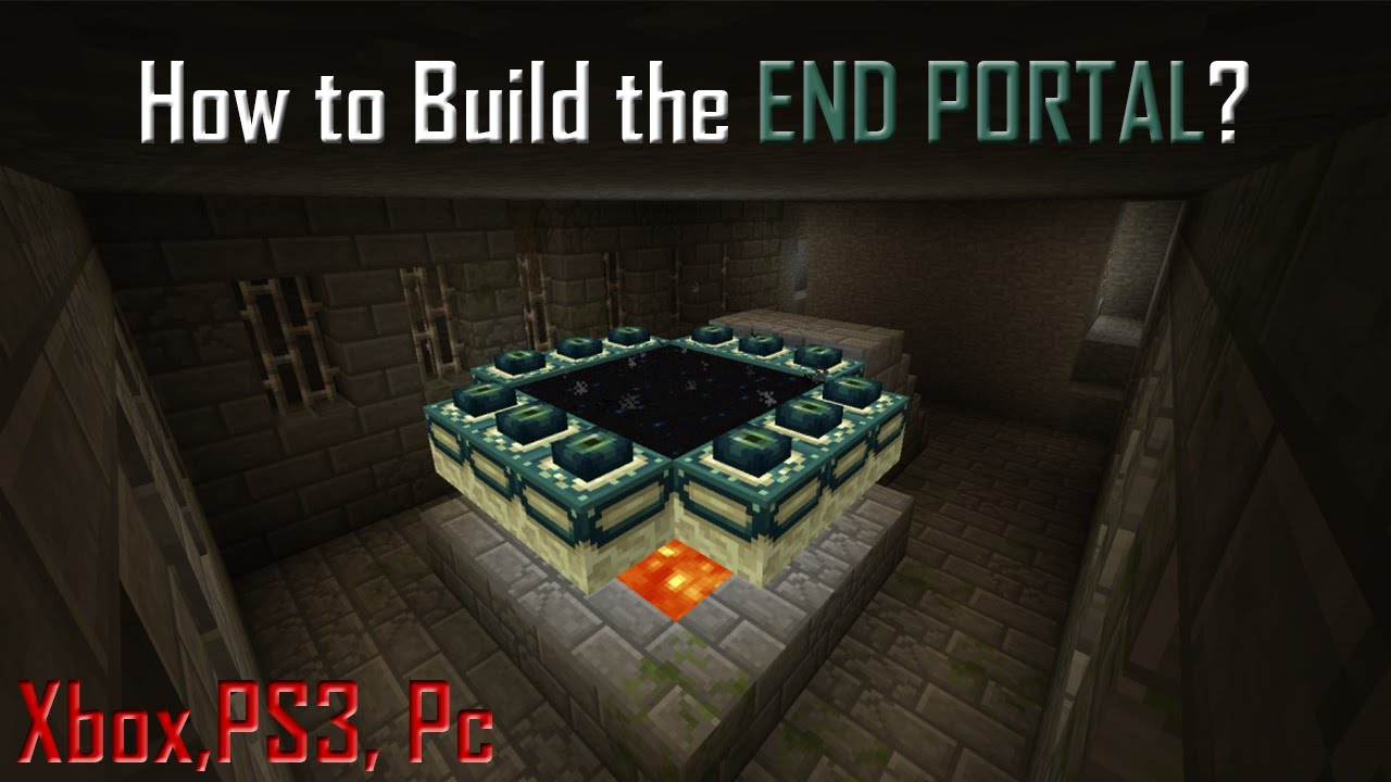 Minecraft tutorials how to build the ender portal kill the minecraft tutorials how to build the ender portal kill the ender dragon youtube sciox Image collections