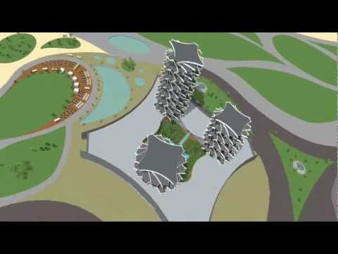 SANDCASTLES - 5 star hotel, casino, waterpark, golf resort - 3D Architecture