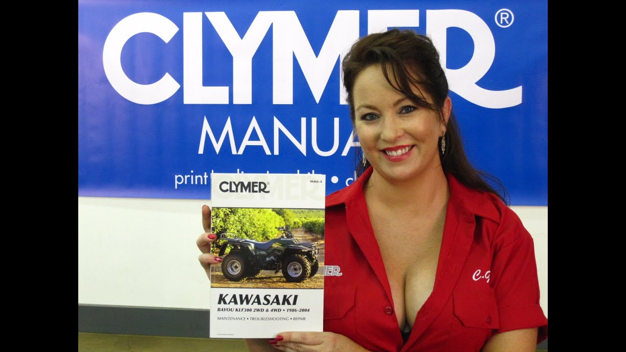 hight resolution of clymer manuals kawasaki bayou manual klf300 manual klf manual kawasaki atv manual video