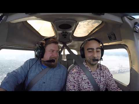 Flying over New York City with Actor Michael Chernus
