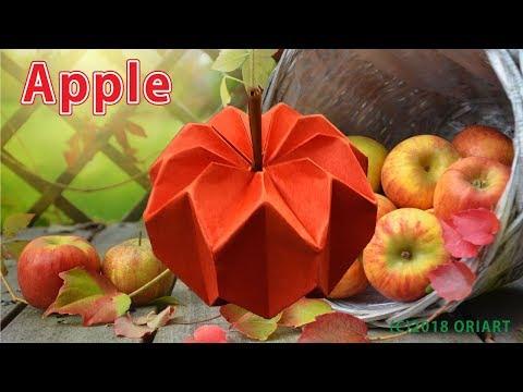 【折り紙 作り方】りんご ~立体/果物~ 3D Paper Apple /DIY-Tutorial