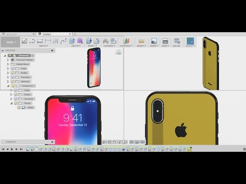 Download Youtube: iPhone X design  - fusion 360 Tutorial and Keyshot Rendering