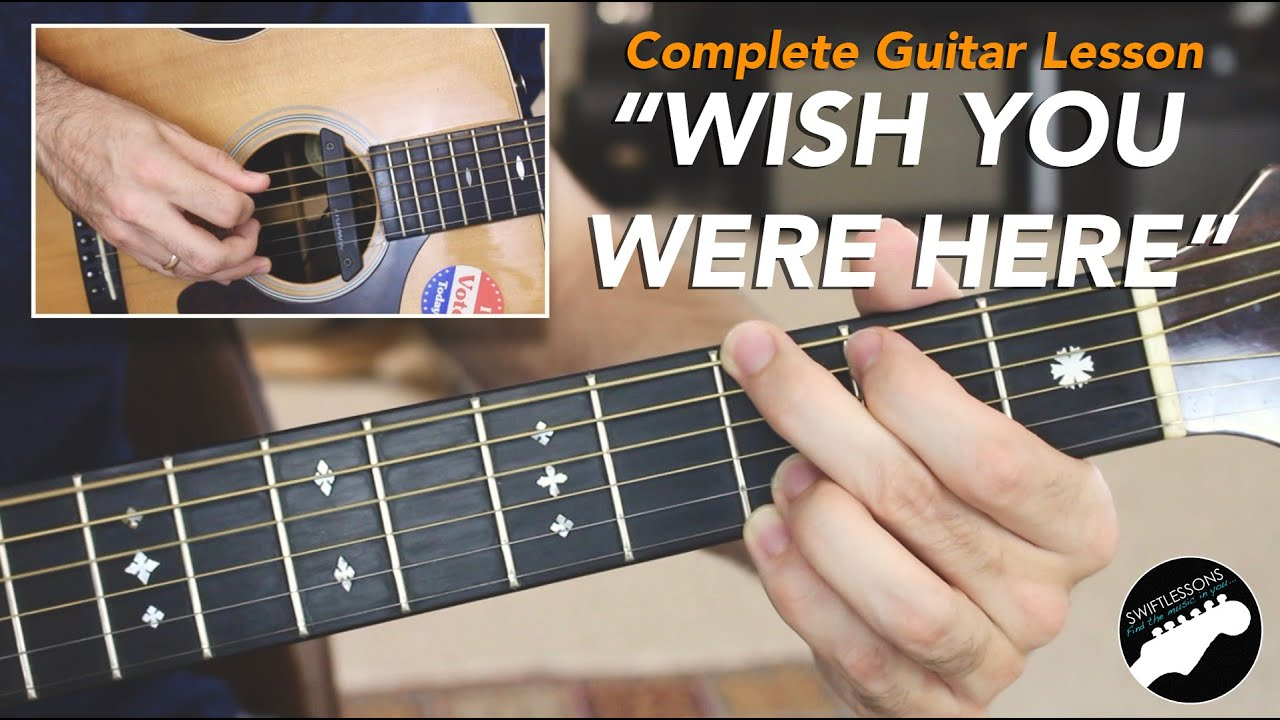 pink floyd wish you were here complete guitar lesson youtube