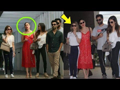 Ooh ! Ranbir's sister Ridhima Kapoor ing attitude to Kareena Kapoor Khan !