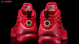 Red Color CBA x Li-Ning Power III Plus Professional Basektball Shoes