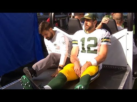 Aaron Rodgers - Injury ? Green Bay Packers vs Minnesota Vikings / NFL Week 6