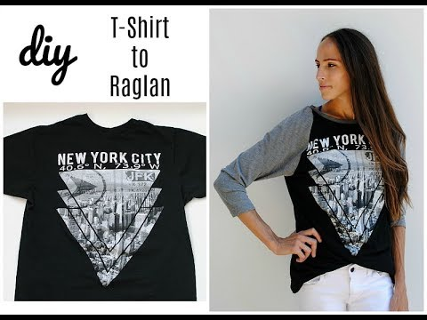 How To: Upcycle a T-shirt into Long Sleeve Raglan (baseball top)