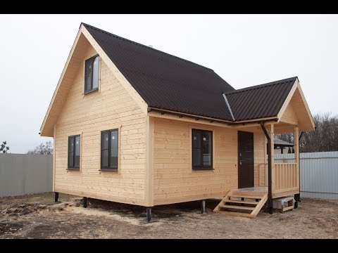 Дом-баня 6х6м из профилированного бруса, Воронежская область, Рамонский район, село Ступино