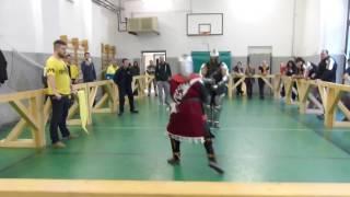 Scherma medievale - Sara Fabbri vs Sara Novelli - Longsword female
