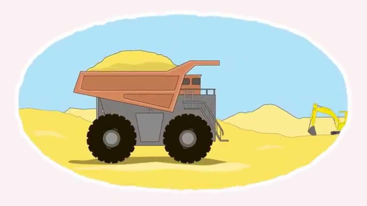 Zeichentrick-Malbuch. Die riesigen Nutzfahrzeuge. - YouTube