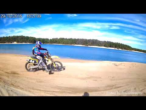 ripping the pits around crystal lake/sarco nj. (SICK ATV RUNNING ON ALCOHOL)