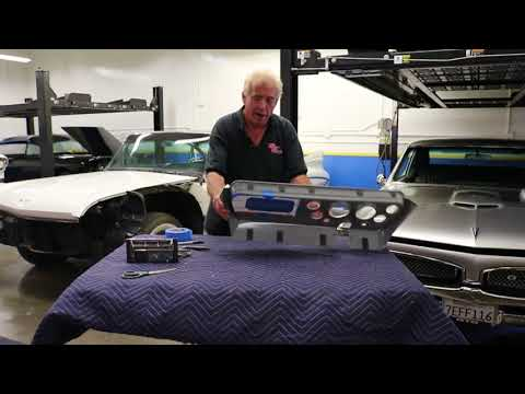 1967 GTO Classic Dash Installation Of AC Controller  Radio Made Easy How To Cut And Fit