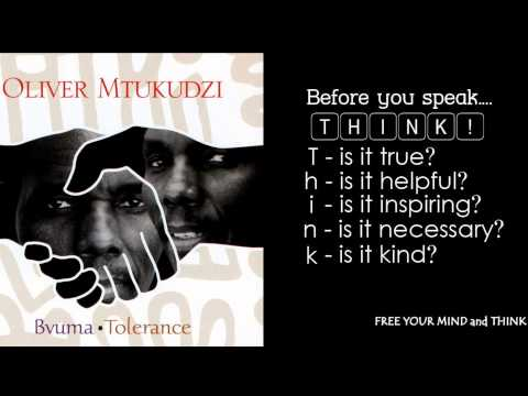 Oliver Mtukudzi - Rurimi (The Tongue) - Bvuma*tolerance (ENGLISH LYRICS)