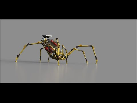 ZBrush - Spider Bike - Making a new engine Part 5