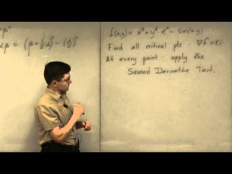 Lecture 2011.07.20 Part 07/8 Strategy of Using the Second Derivative Test
