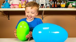 Huge Surprise Eggs with Isaac Toys for Boys | Kinder Playtime It's a Toy Party!