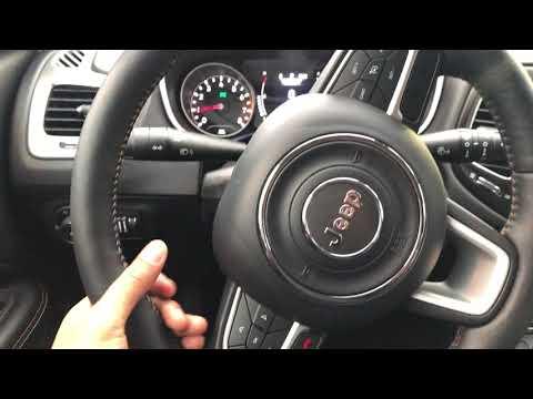 adjusting steering wheel on jeep wrangler
