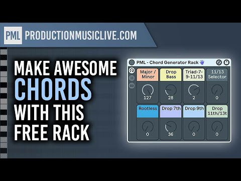 Create Awesome Chord Progressions with this FREE MIDI Rack for Ableton Live