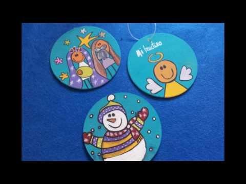 Adornos para arbolito de navidad posa vasos navide o for Manualidades de navidad para ninos