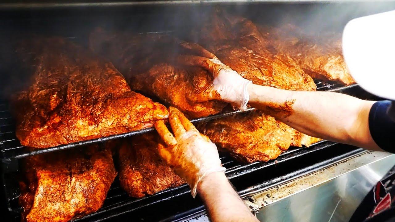 American Food BBQ!! 🔥 DRY RUB RIBS + America's Best Pulled Pork!!   JL Smokehouse!!