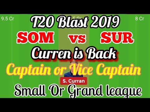 Repeat SOM Vs SUR Dream11 Prediction Somerset vs Surrey Dream11