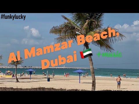 DUBAI, Al Mamzar beach Park 2020 (HD). Дубай, Пляжный парк Аль Мамзар, Flamingo beach.