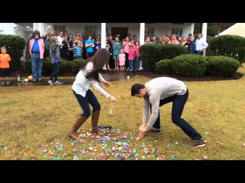 Family Pulls Hilarious Gender-Reveal Prank on Expectant Couple–but Watch the Box on the Ground Closely