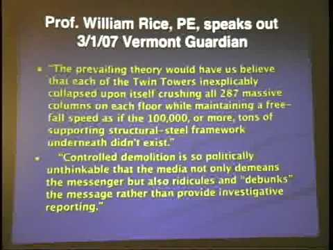 What Really happened on 9/11? Come and hear a Professor of Physics describe what