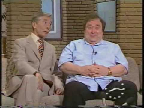 Bernard Manning and Kenneth Williams together on TV-am - 1985