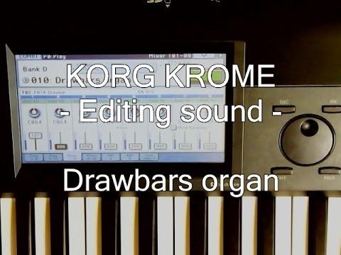 KORG KROME | Editing sound - Drawbars organ by sine waves -