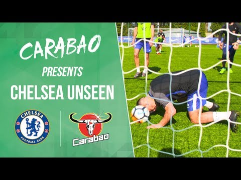 Hazard Scores The Naughtiest Goal Line Header In 5-A-Side | Chelsea