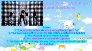 Hello Everyone! Welcome to Love! Project's audition video. We are n...