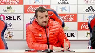 Diego Martínez. Previa Albacete Balompié-Osasuna.