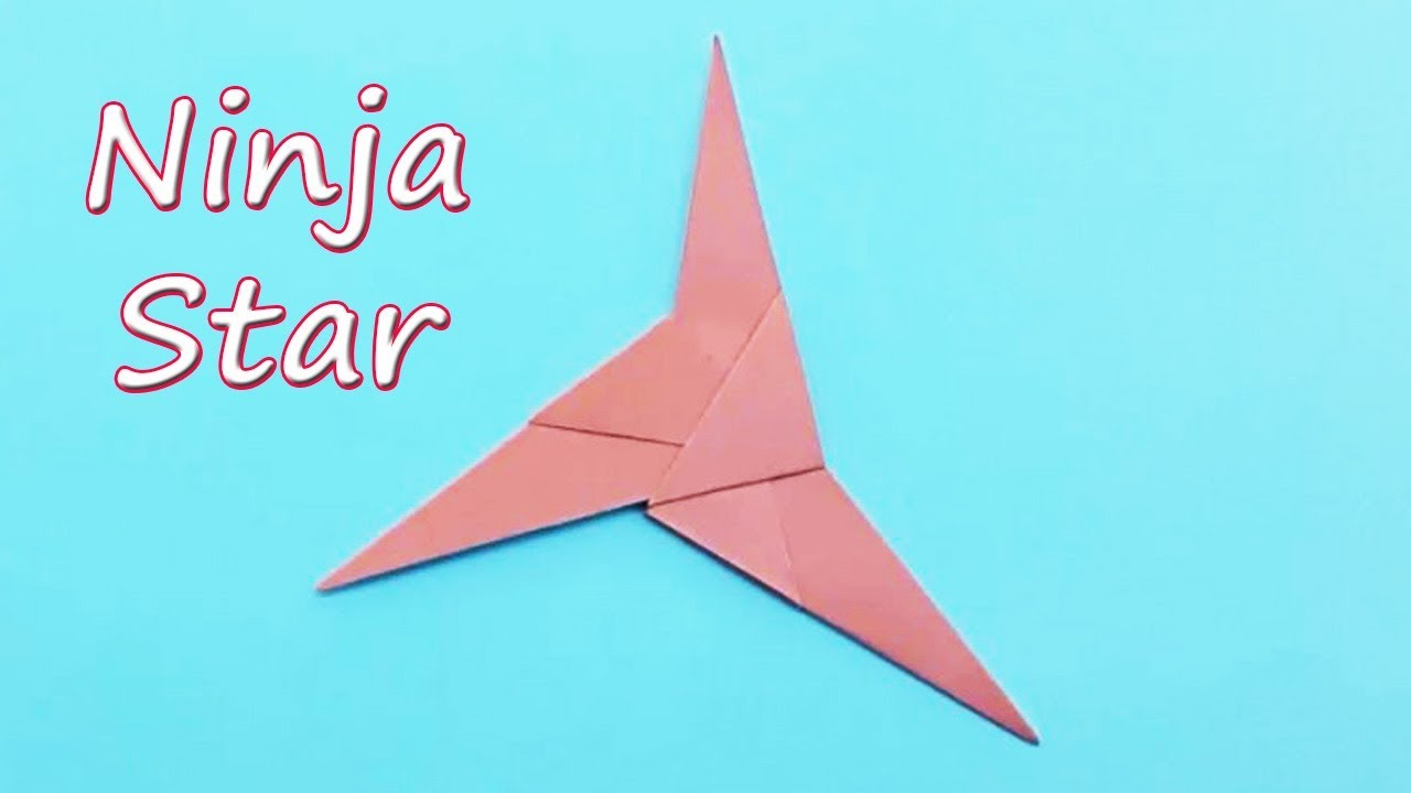 How To Make A 3 Bladed Paper Ninja Star