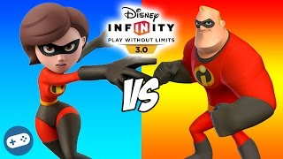 Mr Incredible VS Mrs Incredible Disney Infinity 3.0 The Incredibles Toy Box Fight