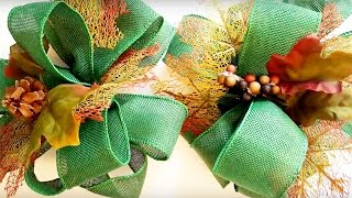 DIY FALL BURLAP BOW | DOLLAR TREE CRAFT IDEAS