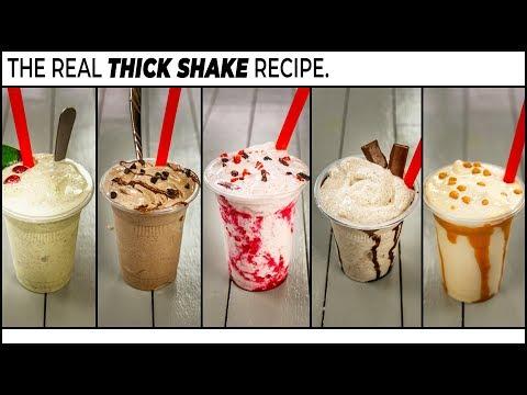 How to make a thick chocolate milkshake with ice cream