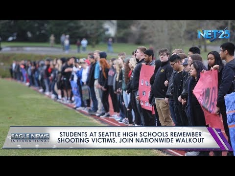 Students Walk Out of Classrooms on Nationwide Walkout Demanding Stricter Gun Laws